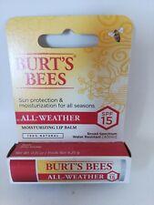 Burt's Bees ALL WEATHER lip balm X1 NEW BUY NOW £4.50 free post