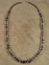 Santo Domingo Purple Spiny Oyster Turquoise & Heishi Necklace