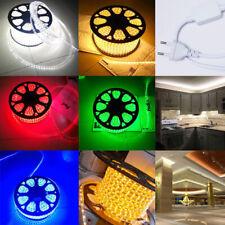 110V 120V SMD 3528 Flexible Flat LED Strip Rope Light Warm White Blue Red Green