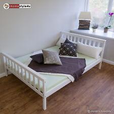 Doppelbett Holzbett Bett Bettgestell 140x200 weiß Kiefer Massivholz Futonbett