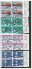 SWITZERLAND HELVETIA 1962 PUBLICITY ISSUE SET 4 BLOCKS OF 4 MARGINS FINE USED