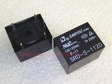 50PCS 5pins 12VDC SANYOU SRD-S-112D 12A 125VAC Power Relay
