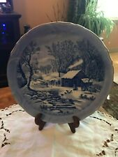Vintage Currier & Ives - A Home in The Wilderness Decorative Plate