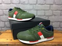 TOMMY HILFIGER BOYS UK 3.5 EU 36 KHAKI CLASSIC LACE UP SNEAKERS TRAINERS