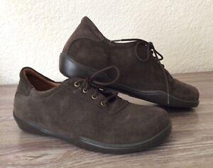 Women's FOOTPRINTS BIRKENSTOCK Brown Suede Lace Oxford Shoes 38/7