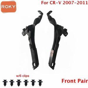 For CR-V 2007-2011 CRV Headlight Bracket Bumper Front Pair Beam Mount Support