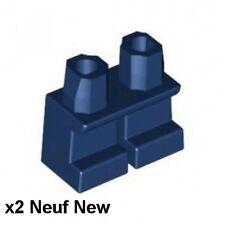 Lego 2 jambes courtes bleu foncé Neuf / Dark Blue Legs short NEW REF 41879