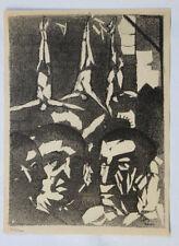 1955 René-Jean CLOT Lithographie originale en noir 1/200 Les Bourreaux Enfer