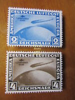 EBS Germany 1930 Zeppelin South America set Michel 438-439 REPRINTS
