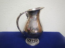 Vintage Large WALLACE  E.P.W.M.  SILVERPLATE water pitcher V6717.