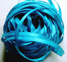 "Craft Sew Knit Braid Narrow Double-sided Ribbon 10 metres 3mm (1/8"") Deep Aqua"