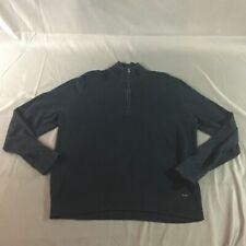 Mens Michael Kors Navy Quarter Zip Sweater Size XL