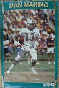 RARE DAN MARINO DOLPHINS 1987 VINTAGE ORIGINAL NFL STARLINE POSTER