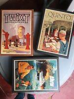 USA Vintage Games of Strategy Boxed Boardgame Family Fun: TWIXT*QUINTO*BREAKTHRU