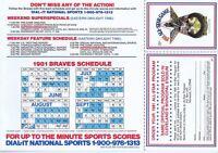 John Montefusco & Steve Bedrosian Signed 1981 Atlanta Braves Schedule