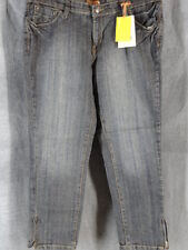 Bitten SJP 12 Ankle Zip Crop Blue Denim Jean NEW NWT