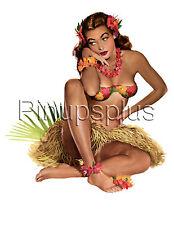 Sexy Retro Vintage Hawaiian Pinup Girl Waterslide Decal S73 by Pinupsplus
