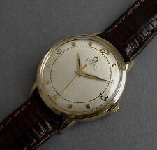 OMEGA 14k Solid Gold Vintage Gents Automatic Bumper Watch 1947