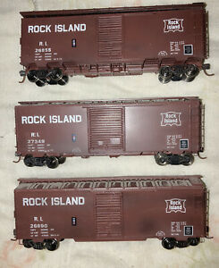 HO Scale Front Range Box Car Custom Painted Rock Island.