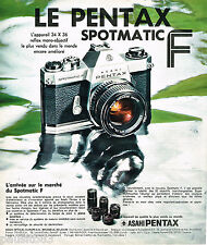 PUBLICITE ADVERTISING 065  1974  ASAHI PENTAX appareil photo SPOTMATIC F