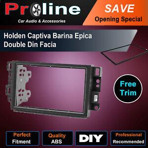 For Holden Captiva Barina Epica Facia 2 DIN Fascia Stereo Dash Surround Panel