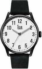 Ice-Watch Ice Time Black White Montre Noire Homme avec Bracelet en Cuir  Noel