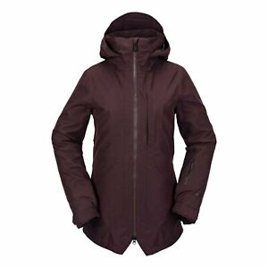 2021 NWT WOMENS VOLCOM IRIS 3-IN-1 GORE-TEX INSULATED JACKET $480 S Black Red