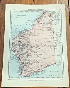 circa 1880s map of western australia ( adam & charles black )