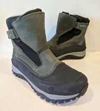 Bearpaw Mens 10 Overland Waterproof Boot Grey 219M Suede Textile Fleece Rubber