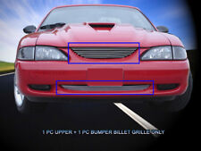 Fedar Billet Grille Combo For 1994-1998 Ford Mustang - Polished