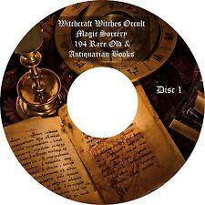 Brujería las brujas magia oculta Brujería 194 Raro Viejo Anticuario libros en 2 Dvds