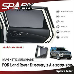 AD MAGNETIC CAR WINDOW SUN SHADE BLIND FOR LAND ROVER DISCOVERY 3 & 4 2009-2016