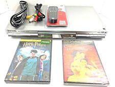 Panasonic DVD/CD Player Model DVD-S47 w Remote, AV Cable, 2 DVD Movies Bundle