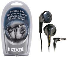 MAXELL EARPHONES Black Color EB-95 Headphones New Sealed Box