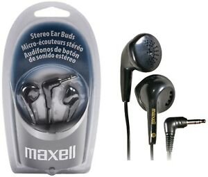 MAXELL EARPHONES Black Color EB-95 Headphones New Sealed Box