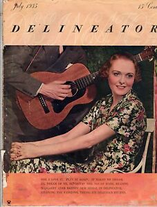 1935 Delineator July - Margaret Sangster; Women in Sports; Western Vacations