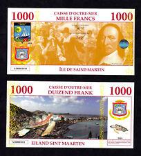 ★ SAINT MARTIN / SINT MAARTEN : BILLET POLYMER 1000 FRANCS ★ ANTILLES FRAN.