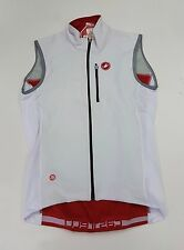 Castelli Winter Men's Isterico Cycling Vest White Red Size S
