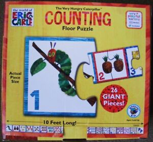The Very Hungry Caterpillar FLOOR PUZZLE Huge 3m long Counting Puzzle Eric Carle