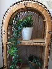 Vintage Wicker/ Rattan Shelving Unit 1970's