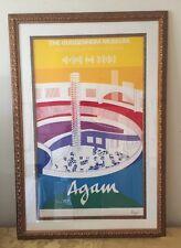 """""""The Guggenheim Museum"""" Original Color Lithograph In Gilt Frame Signed Agam COA"""