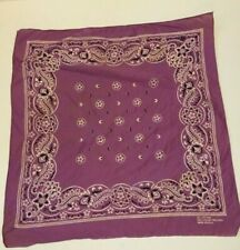 Vtg Pale Purple Fast Color All Cotton Bandana Rn 13960 made Usa leaf Garland