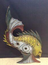 METAL ART COLOURFUL FISH WITH TEA LIGHT DOOR