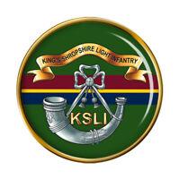 King's Shropshire Lumière Infantry, Armée Britannique Broche Badge