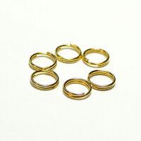 Spaltringe Schlüsselringe 8 mm/ Stärke 0,7 mm Metall gold 5g (ca. 37 Stück)