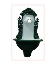Gartenbrunnen Wandbrunnen Bassena Brunnen Grün Weiss 208WG2 mit Wasserhahn 1