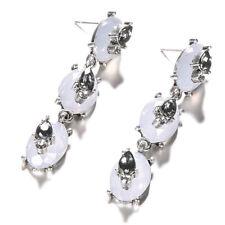 Women Lady Waterdrop Cubic Zirconia Drop Earrings Fashion Jewelry D