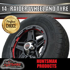 "14"" & 195 LT Tyre Raider Alloy Mag Wheel suits Ford Caravan Trailer Jetski Boat"