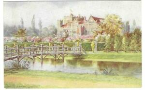 OLD SALMON POSTCARD CIRCA 1950's - HEVER CASTLE OUTER MOAT AND DOVECOTE