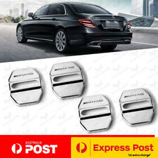 4x Mercedes BENZ AMG Stainless Steel Door Lock Covers A C E C63 E63 CLA GLA GLE